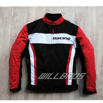 White Red Black Jacket For Honda Motorbike Mountain Bicycle Riding Trip Sport Jacket With Protector