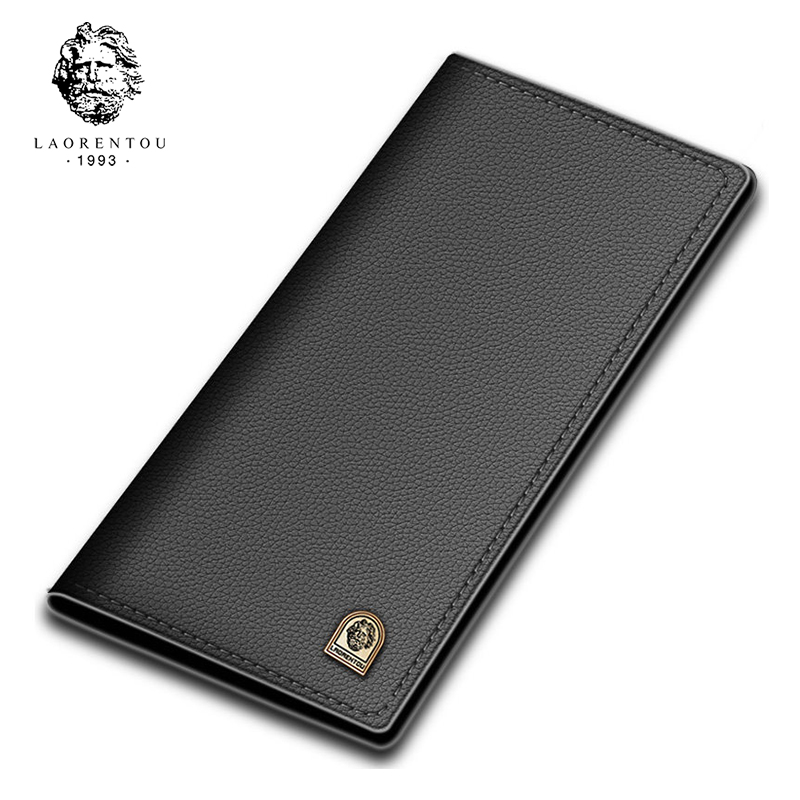 Laorentou Men Wallet Soft Leather Wallets With Card Slot For Business Men New Arrival Long Purse Wallet Leather Clutch Bags