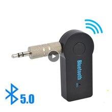 2 In 1 Bluetooth verici alıcı kablosuz ses 3.5mm Aux adaptörü Stereo Ack araç müzik ses Aux Reciever Handsfree