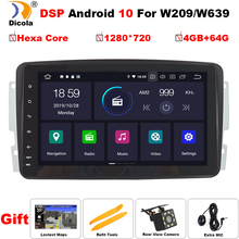 """8"""" HD PX6 4+64G DSP 2 din Android 10 Car Multimeida Player For Mercedes Benz CLK W209 W463 W208 DVD GPS Naviagtion Radio Stereo"""