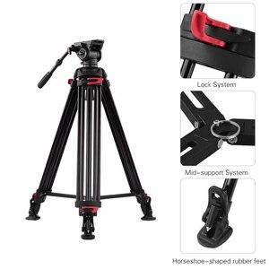 Image 5 - Andoer professionnel photographie trépied support Aluminium fluide hydraulique bol tête pour Canon Nikon Sony DSLR appareils photo