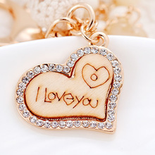 2020 Fashion Simple LOVE Wood Keychains My Key Chain She Would A Woman Car Bag Pendant Accessories Ring Gift