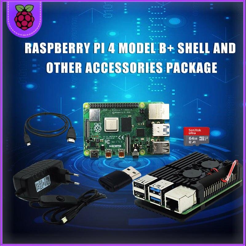 Original Raspberry Pi 4 2GB 4GB RAM + Caja De Aluminio 3A Adaptador De Fuente De Alimentación Micro HDMI Cable Para Raspberry Pi