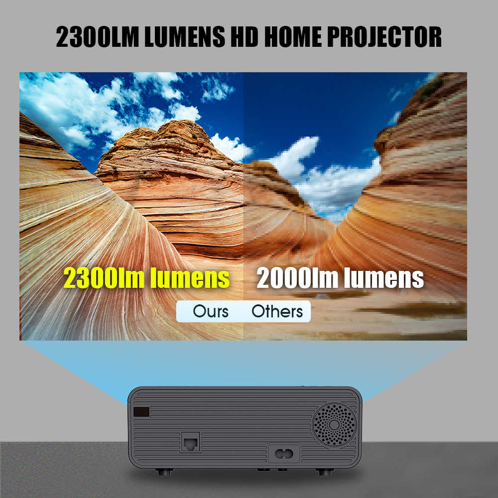 2020 W80 Full HD 1080P 3000LM LED Proyektor 4K WIFI/HDMI/USB/Android Proyektor Portabel bluetooth LCD Home Cinema Media Player