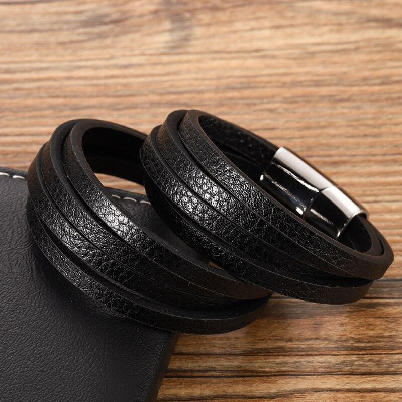 Bracelets personnalisés multicolores pour hommes, disponibles en acier inoxydable, 6 choix pour cadeau, Style classique Bracelet à breloques 4