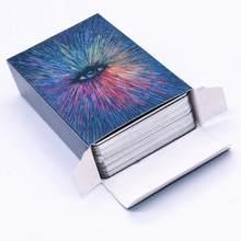 Jeu de cartes de Tarot pour fête en famille, 79 pièces, bricolage plaqué argent, cartes Prisma Visions, Divination, destin