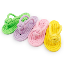 Wholesale Christmas Pet Toys Biting Candy-Color Cotton Rope Knitted Slipper Toys Dropshipping Kintting Shoe Cat Toy