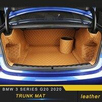 Für BMW 3 Serie G20 2020 Auto Styling Leder Stamm Matte Pad Fach Teppich Kissen Protector Innen Zubehör| |   -