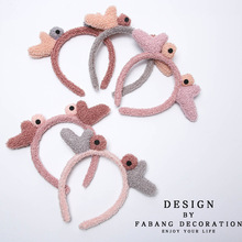 1PCS Cute Little Crab Hair Holder Hairbands Fleece Bow Animal Ears Headband For Women Girls Turban Fashion Hair Accessories
