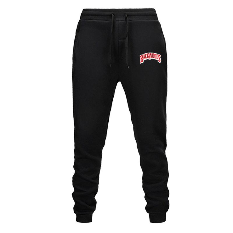 Mens Pants Cotton Autumn Winter Gray Casual Funny Backwoods Printed Men Joggers Sweatpants Plus Size Black Trouser Pantalon