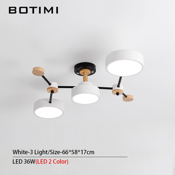 BOTIMI Modern Designer 220V LED Chandelier With Gray Metal Lampshade For Living Room White Iron Ceiling Mounted Home Lighting 7