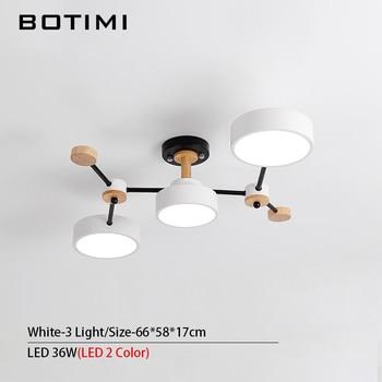 BOTIMI Modern Designer 220V LED Chandelier With Gray Metal Lampshade For Living Room White Iron Ceiling Mounted Home Lighting 7