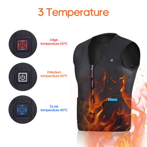 Image 2 - USB Infrared Heated Vest Outdoor Jacket Heated Women Mens Winter Jacket Electric Thermal Clothing Waistcoat For Sports Hiking