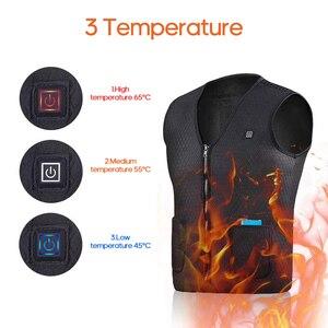 Image 2 - USB Инфракрасный жилет с подогревом уличная куртка с подогревом для женщин и мужчин зимняя куртка электрическая теплая одежда жилет для спорта и туризма