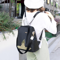 Simple Style Backpack Women Leather Backpacks For Teenage Girls School Bags Fashion Vintage Black Shoulder Bag Youth BA669