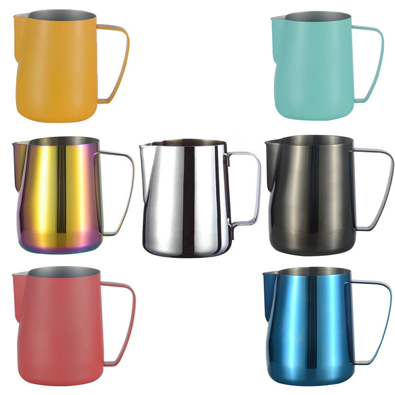 Barista Craft Coffee Latte Milk Frothing Jug Pitcher Kitchen Stainless Steel Milk Frothing Jug Espresso Coffee Pitcher Tools#25