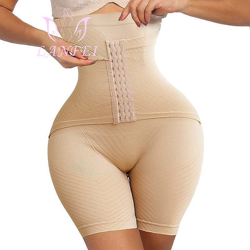 LANFEI Womens Firm Tummy Control Butt Lifter Shapewear High Waist Trainer Body Shaper Shorts Thigh Slim Girdle Panties With Hook