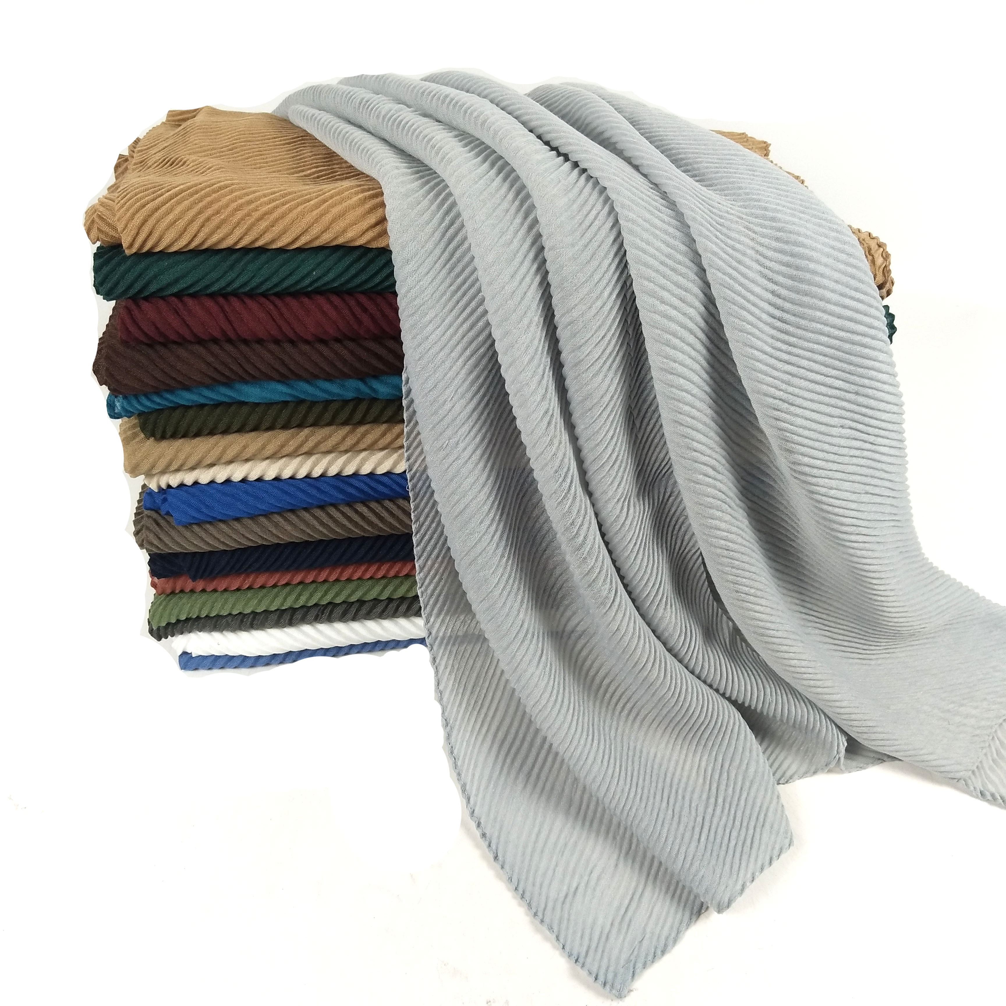 V1 10pcs High Quality Crumple Crinkle Hijab Wrap Cotton Viscose  Headband Lady Scarf Scarves Shawl Shawls