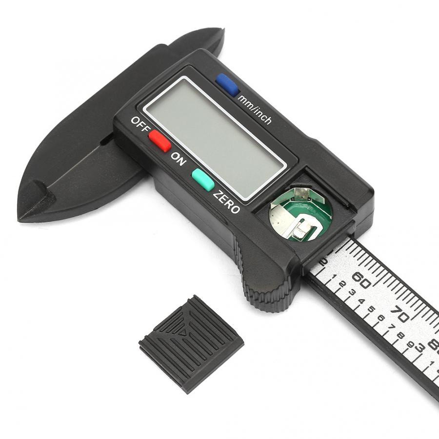 fibra carbono eletrônico vernier caliper calibre micrômetro ferramenta medição