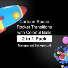 Balls with Colorful Pack-Videohive 22744225/download Transitions Rocket Space Cartoon