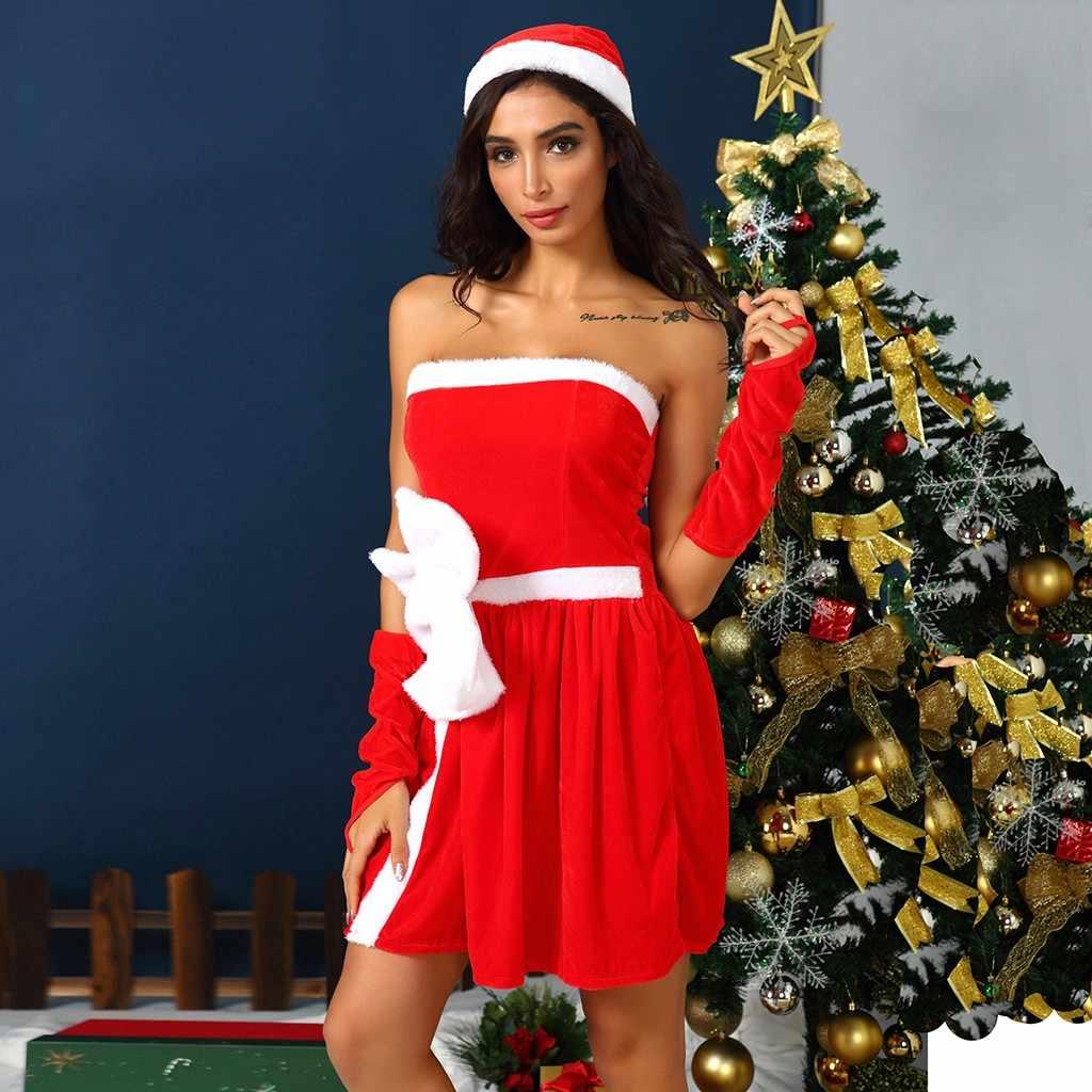 sukienka vestidos plus size New dresses woman party night christmas dress Costume Ball dress Big Bowknot Red Dress With Glove