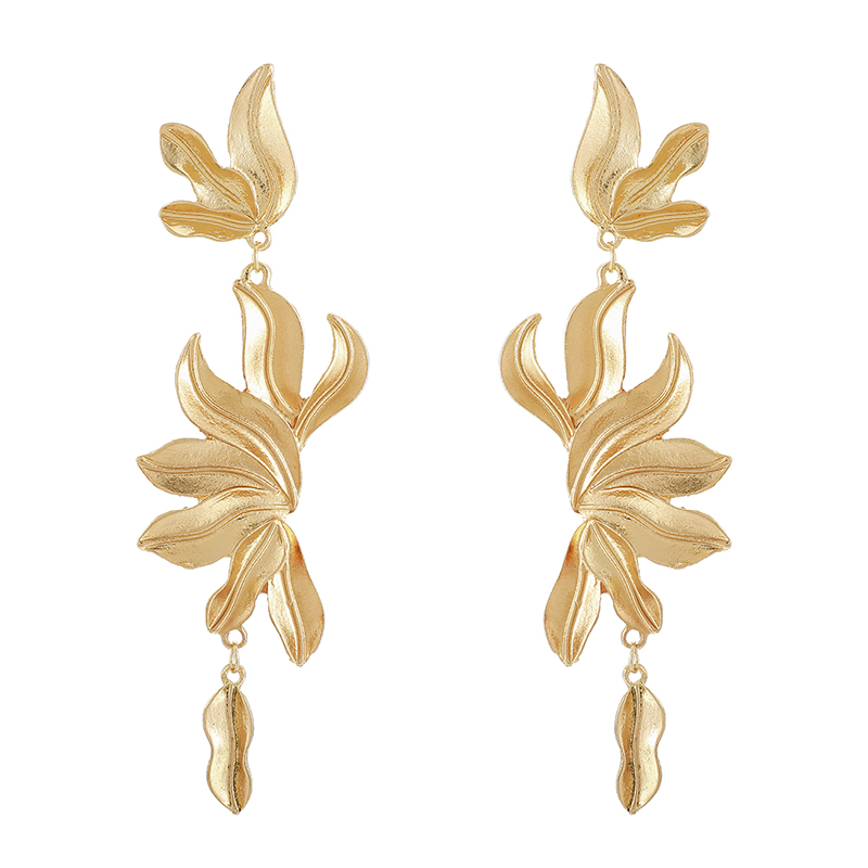 He6ecdf1f381743d49c877a8259d8c8d1r - Tocona Vintage Metal Flowers Dangle Earrings for Women Bohemian Fringed Drop Earring Gold Women Fashion Jewellery 9127