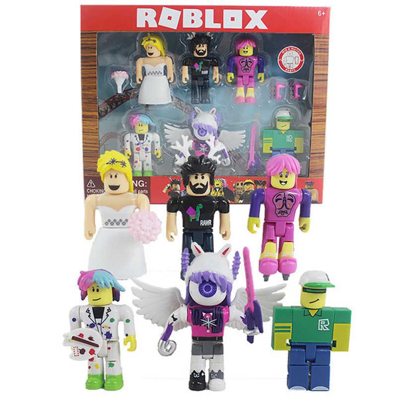 ROBLOX aksiyon figürleri Set 7cm PVC paketi bebek 6 bebekleri artı aksesuarları kutusu çocuk oyuncakları kız koleksiyonu figürler hediye