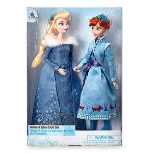 Оригинальная кукла принцессы Эльзы и Анны Диснея, Снежная королева, детские игрушки для девочек на день рождения, рождественский подарок, о...