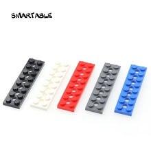 Техническая пластина smartable кирпичи с отверстием 2x8 строительные