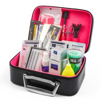 22pcs Professional False Eyelashes Extension Kit Mink Eyelashes with Case No Stimulating Glue Easy Grafting Eyelash Makeup Tools