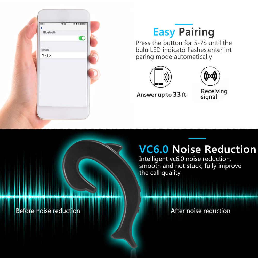 Nowe ucho-haczyk bezprzewodowy/a słuchawki nie zatyczki do uszu zestaw słuchawkowy Bluetooth z mikrofonem kości przewodzenia bluetooth słuchawki do telefonu komórkowego