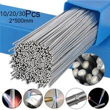 10/20/30Pcs Non-solder Powder Aluminum Rectangular Electrode 1.6/2MM Low Temperature Aluminum Electrode Welding