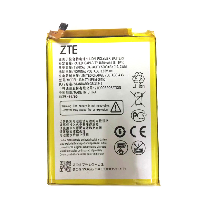 100% Original Li3849T44P8h906450 5000mAh Battery For ZTE Blade A6 A6020/ A6 Lite A0622 Phone High Quality Battery+Home Delivery