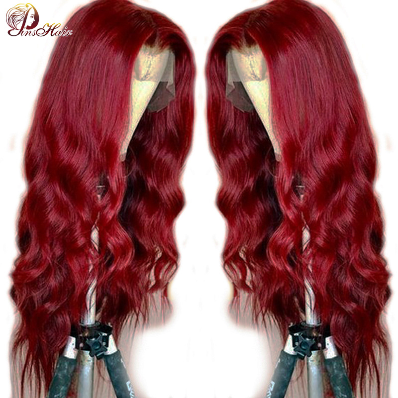99J Body Wave 13X4 Lace Wigs 180% Density Lace Front Human Hair Wigs Pre Plucked Hairline Remy Brazilian Lace Front Wig Pinshair