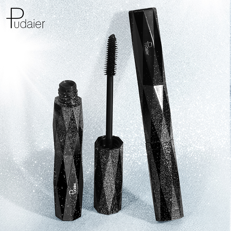 Pudaier 4d Curling Black Mascara Waterproof Lengthening Silk-Fiber Thick Professional Makeup For Eyelash Female Korean Cosmetics
