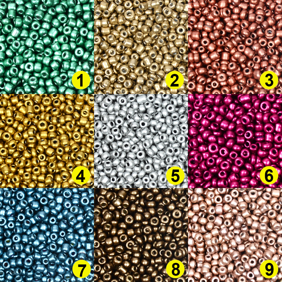 Glass Beads Kralen-Bead-Spacers Jewelry-Making Matellic Czech Small 2MM Approx.1000pcs title=