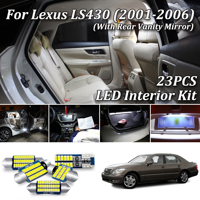 18 pieces Vanity for Lexus LS 460 Interior LED Package License Plate