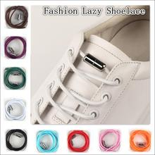 No-Tie Shoelaces Sneakers Shoe-Strings Semicircle Elastic Metal Quick-Lazy Kids for And