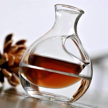 Szklana butelka na wino otwór Sake dzbanek na lód gniazdo dla chomika chłodzenie Brandy whisky piwo karafka przezroczysta karafka na wino Superior akcesoria barowe tanie i dobre opinie CN (pochodzenie) Szkło Ekologiczne Na stanie Karafki CE UE Przybory barowe