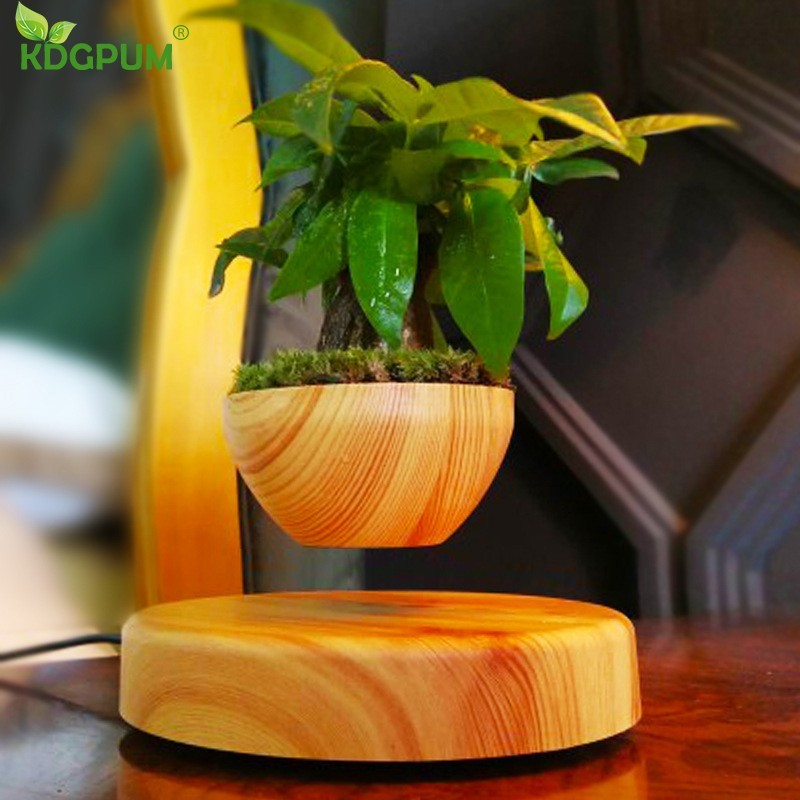 <font><b>Magnetic</b></font> Levitation Potted Plant Floating Air Bonsai Tree <font><b>Pot</b></font> Garden <font><b>Flower</b></font> <font><b>Pot</b></font> Beautiful Gifts For Friends Free Shpping image
