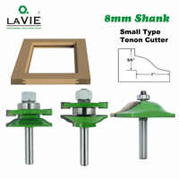8mm Shank 3pcs Door Panel Cabinet Tenon Router Bit Cabinet Rail & Stile Set Panel Raiser Ogee Milling Cutter for Wood MC02033