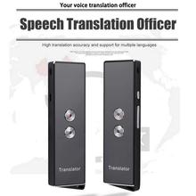 portable smart wireless translator handheld real time interactive instant voice translation support 52 languages no noise X9 Portable Mini Wireless Smart Translator 70 Languages Two-Way Real Time Instant Voice Translator APP Bluetooth Multi-Language