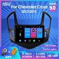 Автомобильный радиоприемник для Chevrolet Cruze J300 J308 2012-2015, автомобильный мультимедийный видеоплеер, навигатор GPS, 2Din Android 9,0, 2din Dvd-плеер