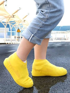 Shoe-Covers Shoes-Protector Rain-Boot Dustproof Outdoor Silicone Non-Slip Reusable Unisex