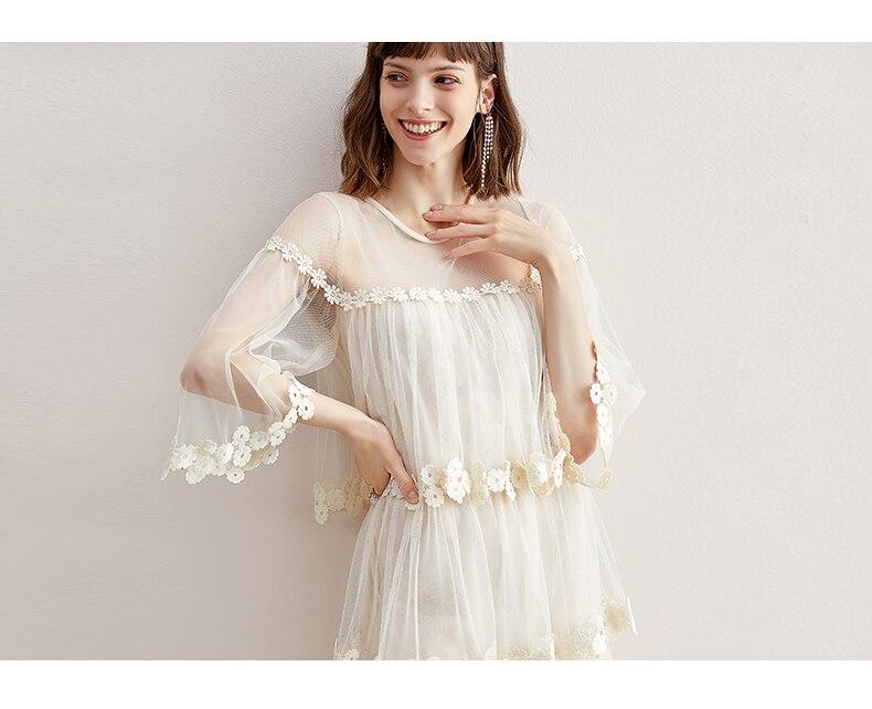 Пышная юбка средней длины с расклешенными рукавами и цветочным принтом; платье пачка из сетчатой тканиПлатья    АлиЭкспресс