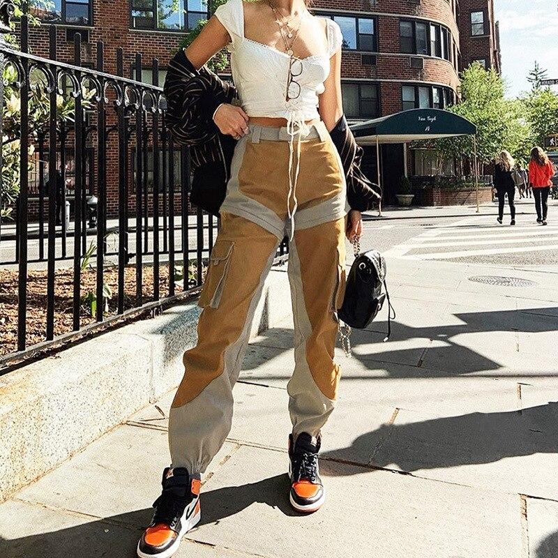 Été 2019 nouveau vêtement pour femme couleur colorée taille haute et pied-reliure vêtements de travail pantalons de loisirs