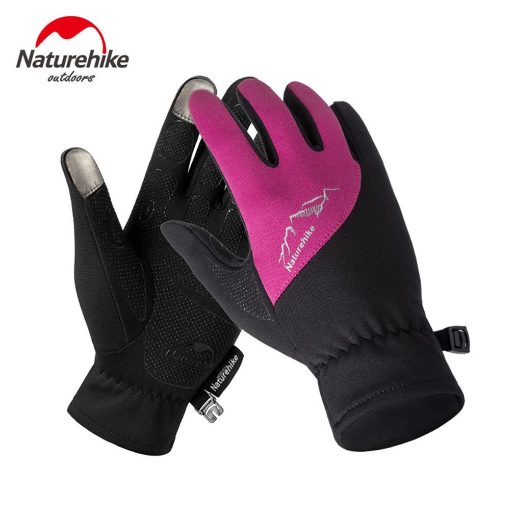 Naturehike Outdoor Sports Gloves Windproof Touch Screen Full Finger Gloves Men Women Men Climbing Cycling Safety Gloves