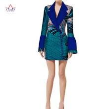 Осенняя куртка блузка африканская одежда с принтом воска бренд