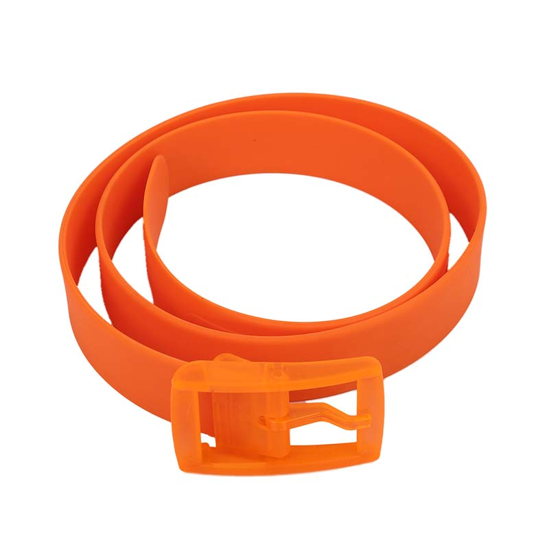 Unisex Stylish Candy Colours Silicone Plastic Belt Orange