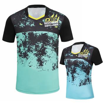Nowe koszulki do badmintona mężczyźni kobiety siłownia koszulki do biegania koszulki tenisowe koszulki do tenisa stołowego rękaw sport t shirt męski tanie i dobre opinie ZISURON POLIESTER SHORT oddychająca Szybkoschnące Dobrze pasuje do rozmiaru wybierz swój normalny rozmiar Z dzianiny